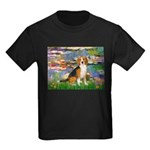 Lilies (#2) - Beagle #7 Kids Dark T-Shirt