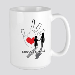 Stop Child Abuse Large Mug