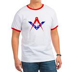 Masonic Texas Red White & Blue Ringer T