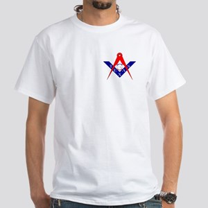 Masonic Texas Red White & Blue White T-Shirt