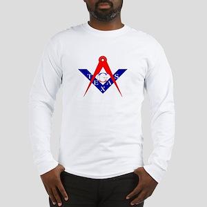 Masonic Texas Red White & Blue Long Sleeve T-Shir