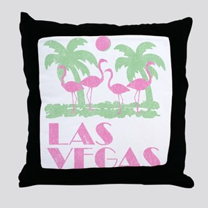 Vintage Las Vegas Throw Pillow