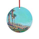 California landscape Riccoboni Ornament (Round)