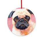 Riccoboni Pug Dog Ornament Ornament (Round)