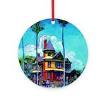 Riccoboni Holiday House Ornament (Round)