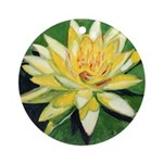 Riccoboni yellow waterlily Ornament (Round)