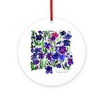 Riccoboni purple flower Ornament (Round)