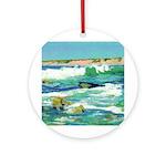Riccoboni Ocean Waves Ornament (Round)
