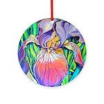 Riccoboni Purple Iris Ornament (Round)