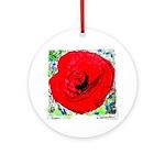 Riccoboni Red Poppy Ornament (Round)
