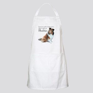 Happy Place Sheltie BBQ Apron