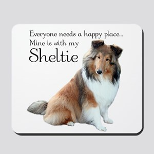 Happy Place Sheltie Mousepad