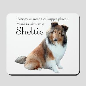 Happy Place Sheltie Mousepad