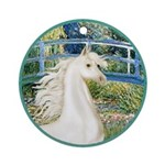 Bridge/Arabian horse (w) Ornament (Round)