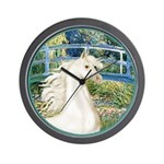 Bridge/Arabian horse (w) Wall Clock