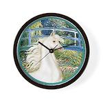 Bridge/Arabian horse (w) Wall Clock