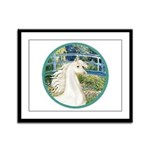 Bridge/Arabian horse (w) Framed Panel Print