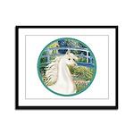 Bridge/Arabian horse (w) Framed Panel Print