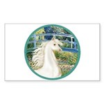 Bridge/Arabian horse (w) Rectangle Sticker