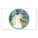 Bridge/Arabian horse (w) Rectangle Sticker