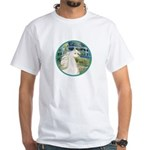 Bridge/Arabian horse (w) White T-Shirt