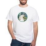 Bridge/Arabian horse (w) White T-Shirt