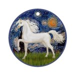 Starry / Arabian Horse (W1) Ornament (Round)