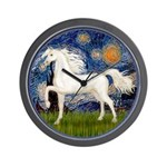 Starry / Arabian Horse (W1) Wall Clock
