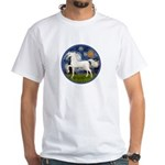 Starry / Arabian Horse (W1) White T-Shirt