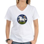 Starry / Arabian Horse (W1) Women's V-Neck T-Shirt