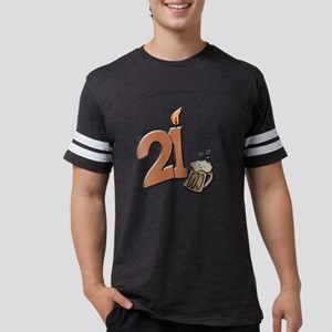 21st birthday candle & beer T-Shirt