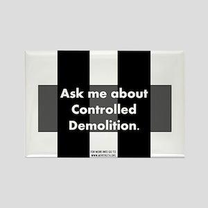 Controlled Demolition Rectangle Magnet