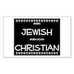 Jewish Christian Rectangle Sticker