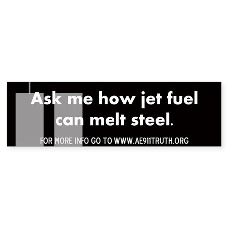 Jet Fuel Bumper Sticker
