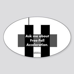 Free-Fall Acceleration Oval Sticker