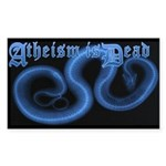 Atheism is Dead Rectangle Sticker