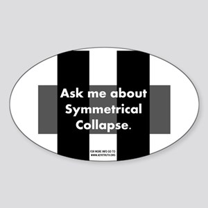 Symmetrical Collapse Oval Sticker