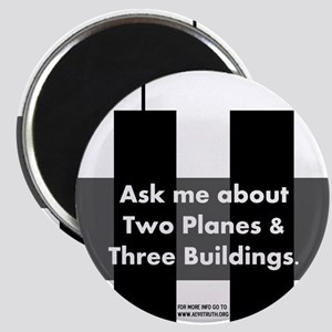 Two Planes Three Buildings Magnet