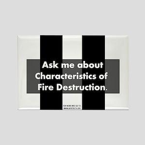 Fire Destruction Rectangle Magnet