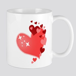 I Love You Hearts Mug