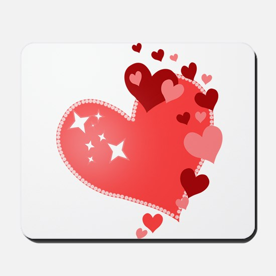 I Love You Hearts Mousepad