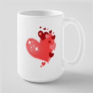 I Love You Hearts Large Mug