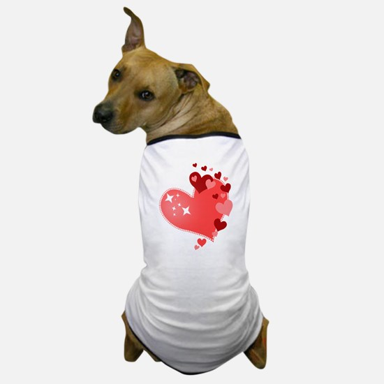 I Love You Hearts Dog T-Shirt
