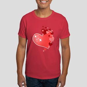 I Love You Hearts Dark T-Shirt