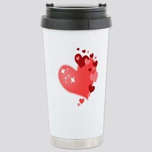 I Love You Hearts Stainless Steel Travel Mug