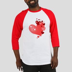 I Love You Hearts Baseball Jersey