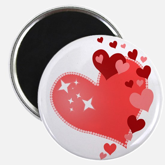 """I Love You Hearts 2.25"""" Magnet (100 pack)"""