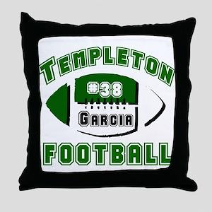 TEMPLETON FOOTBALL (5 custom) Throw Pillow