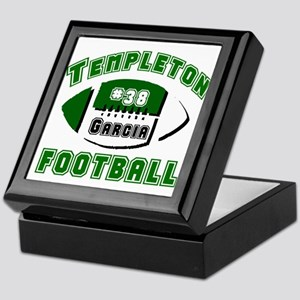 TEMPLETON FOOTBALL (5 custom) Keepsake Box