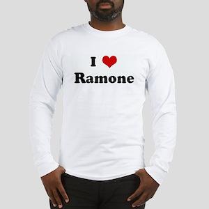 I Love Ramone Long Sleeve T-Shirt